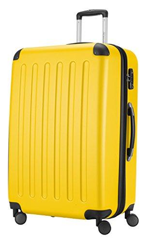 HAUPTSTADTKOFFER® Hartschalen Koffer SPREE 1203 · NEU 4 Doppel-Rollen · MATT · TSA Zahlenschloss · + KOFFERANHÄNGER (Gelb, Set) - 2