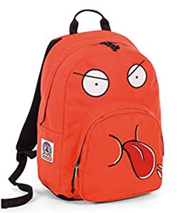 Zaino Americano Red Orange Ollie Face Plain Color Invicta