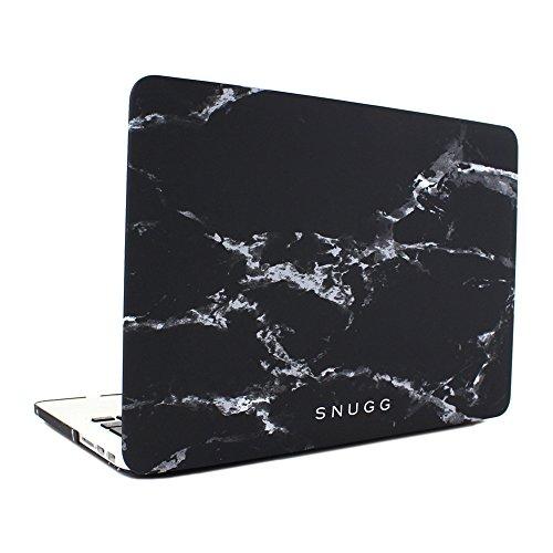 Snugg MacBook Pro 15 Hülle, Apple MacBook Pro 15 Hülle Case Tasche [Deluxe Satin Touch] Ultra Slim - Schwarzer Marmor