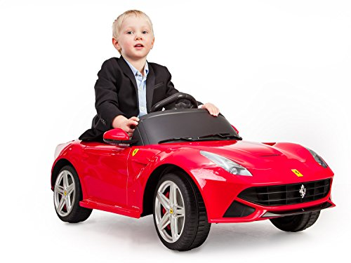 Kinderauto Original Lizenz Elektroauto Kinderfahrzeug für Kinder Auto ab 3 Jahre Spielzeug RC 12V-Motor Version Ferrari Berlinetta F12 (Tacho Rc-car)