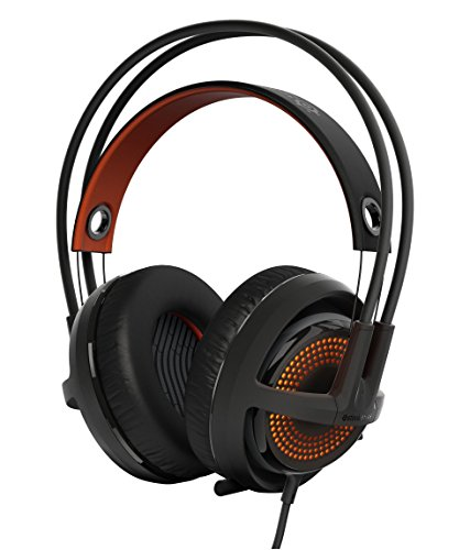 SteelSeries Siberia 350 - Auriculares para juego, DTS 7.1 Surround Sound, iluminación RGB, (PC / Mac / Playstation), negro