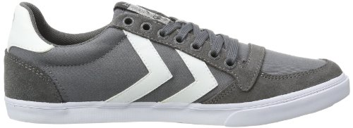 Hummel Fashion - Chaussures Hummel 'Slimmer Stadil Low', de sport - HUMMEL SLIMMER STADI, Baskets mode mixte adulte Gris (Castle Rock/White Kh)