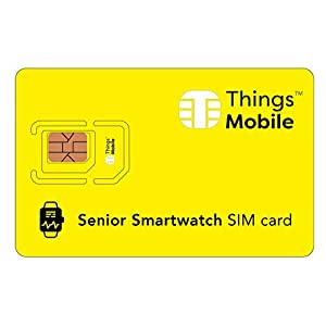 Tarjeta SIM para SMARTWATCH / RELOJ INTELIGENTE PARA PERSONAS MAYORES - Things Mobile - cobertura global, red multioperador GSM/2G/3G/4G, sin costes fijos, sin vencimiento. Crédito no incluido 5