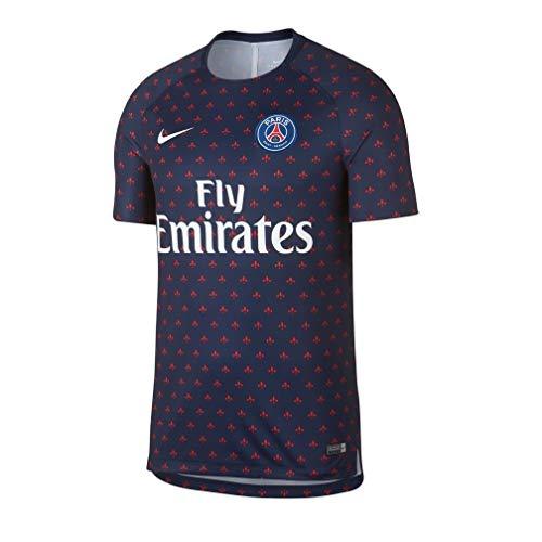 Nike PSG M NK Dry SQD Top SS GX 2 - Camiseta, Hombre, Azul(Midnight Navy/Midnight Navy/White)