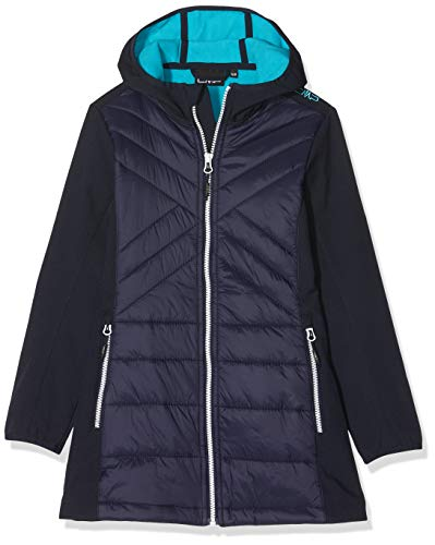 CMP Mädchen Softshell-Hybrid Mantel, Black/Blue, 176