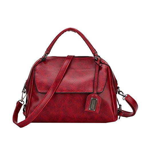 Yy.f Nuovi Borse Big Bag Di Modo Sacchetto Cuscino Sacchetto Cera Di Petrolio Sacchetto Del Messaggero Di Spalla Portatile Signora Sacchetti Di Vari Colori Brown