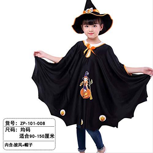Kostüm Koreanische Halloween - KOWSXFTGB Halloween Kinder Cape Koreanische Version Cape Hexe Kostüm Kostüm Sechs-Sterne-Mantel Magier Kürbis Mantel 80 X 110Cm B