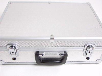 BRUBAKER Valigetta in alluminio - Valigetta porta attrezzi strumenti vari - Internamente imbottita, argento