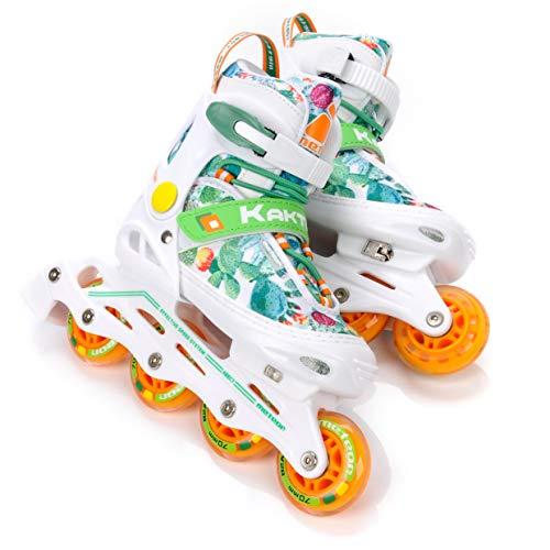 meteor® Inliner Rollen Inline-Skates Damen Inliner Kinder Original Inline Skates - ABEC7 Inliner mit Einstellbarer Größe Inline-Skates Kinder (EU 38-42 (L), Cactus)