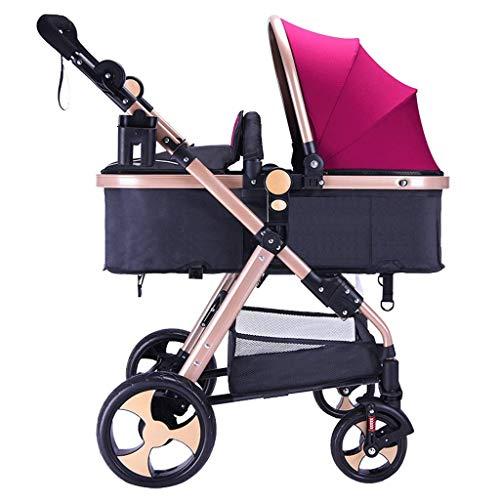 YKQ Kinderwagen für Kleinkinder zusammenklappbare Schock Sit und Lay Comfort Baby hohe Landschaft Sitz Mädchen Travel System (Travel-system-kinderwagen Mädchen Für)