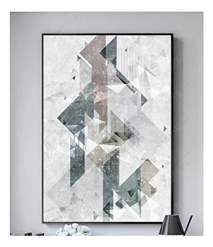 ZSHSCL Moderne Leinwand Malerei Kein Rahmen Wandkunst Bild Einfache Geometrische Muster Für Wohnzimmer Dekoration Bild, 70X100 cm