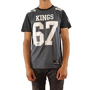 Majestic T-Shirt – NFL Sacramento Kings Dene Poly Mesh Grau/Schwarz