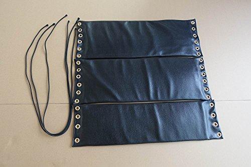 Wing Chun cuenta de madera maniquí cabeza proteger piel almohadillas 3piezas 27inch x 9,8pulgadas Jong almohadillas de cuero