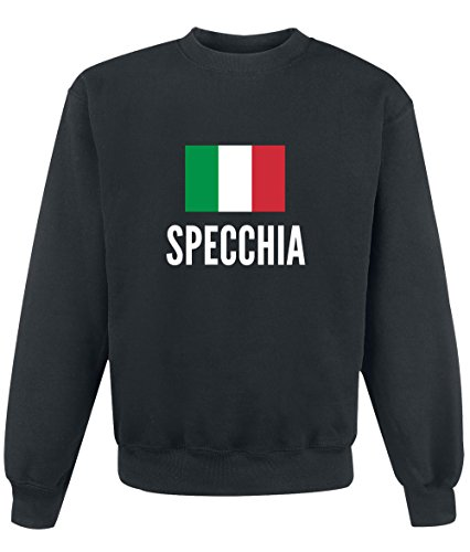 Felpa Specchia city Black