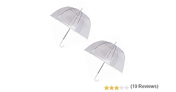 Set di 4 ombrelli pioggia a cupola Birdcage chiaro trasparente in PVC in PLASTICA Matrimonio