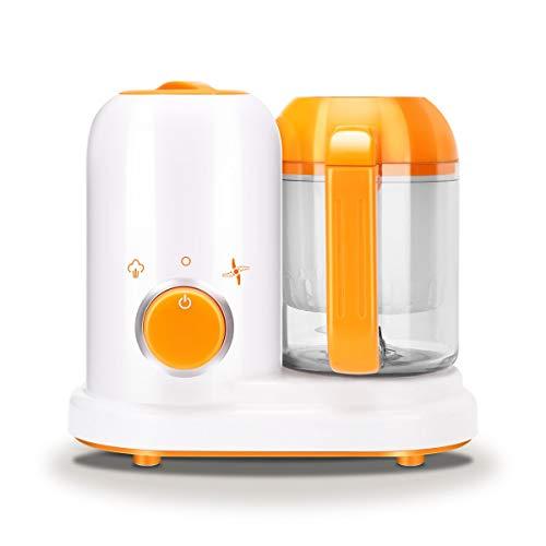 Flipco Portable Baby Puree Food Processor Steamer Blender,All in One Unit,True Time-Saving,Mini Baby Food Maker Kit Machine Manual
