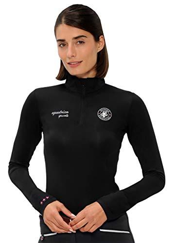 SPOOKS T Shirt für Damen Mädchen Kinder, Langarmshirt Tshirt Langarm - Sport Shirt Sophie Black XS