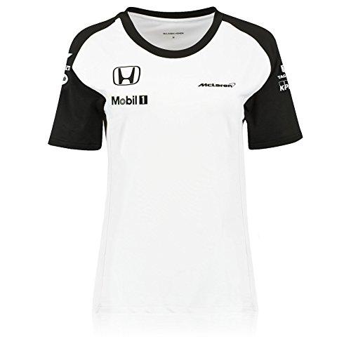 mclaren-honda-womens-official-team-maglietta-a-maniche-corte-colore-bianco-bianco-xl