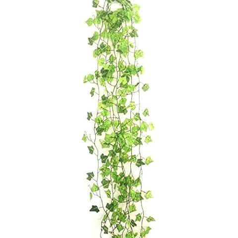 Planta artificial colgante hojas de la planta decoración de la pared,6 unidades