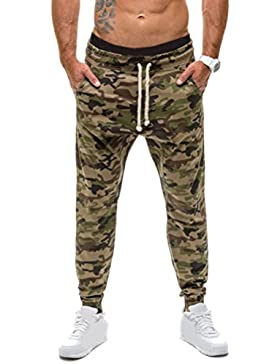 Zhhlinyuan alta calidad Men's Camouflage Casual Pants Breathable Slim Fit Trousers