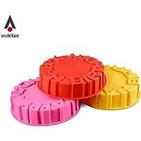 BHPSU - Molde redondo de silicona para hornear pasteles para pudín, mousse, chocolates,