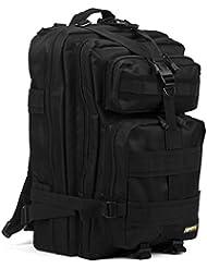 40L Mochila Militar Táctica Molle para Acampada Camping Senderismo Deporte Backpack de Asalto Patrulla para Hombre Mujer Negro