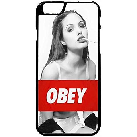 Angelina Jolie Obey Case / Color Black Rubber / Device iPhone 6 Plus/6s Plus