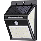 140leds Solar Powered Wall Lamp Lighting Sensor & PIR Motion Sensor Control Three Sides Wall Mounted Light IP65 Water-resista