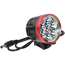 ridewill Bike Faro Delantero 7LED T6Cree XM-L 8400Lm Rojo 4Modos (luces delanteras batería)/Headlight 7LED T6Cree XM-L 8400Lm Red 4Light Modes (Front Lights battery)