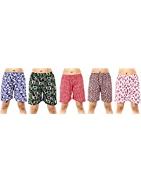 MUKHAKSH (Pack of 5 Girls Hot Latest Soft Cotton Printed Shorts Lounge Shorts Night Shorts Nikar, Prints & Design May Vary