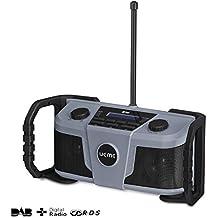 UEME DAB+ DAB Radio mit FM und Bluetooth, Robustes Baustellenradio DAB Plus Radio DAB-322 (Grau-Schwarz)