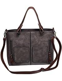 Yuan Gray High Quality Women Elegant Female Bag New Double Pocket Design Oblique Messenger Square Shoulder Bag...