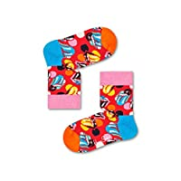 Happy Socks Unisex Kids Rolling Stones Socks Box Set, Multicolour, 2-3Y