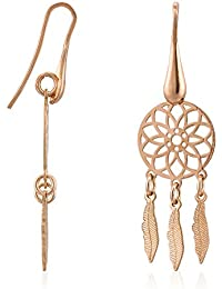 Córdoba Jewels | Pendientes en plata de ley 925 bañada en oro rosa. Diseño Atrapasueños Oro Rosa