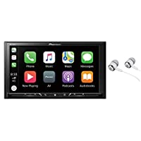 ‏‪Pioneer WVGA Display, Apple CarPlay, Android Auto, Built-in Bluetooth, AppRadio Mode, Pandora, Spotify, MIXTRAX, USB/AUX Digital Multimedia Video Receiver/Free ALPHASONIK Earbuds AVH4000NEX‬‏