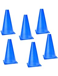Dcolor 6pcs multifonction Cone Agilite securite pour les sports Football Football Exercice de Champ de marquage - Bleu
