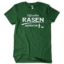 Offizieller Rasen Inspektor T-Shirt - Gr. S M L XL XXL - Die Geschenkidee für den ambitionierten Hobbygärtner