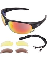LUNETTES SOLAIRES DE SPORT Edge Black UV400 avec verres polarisés interchangeables