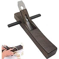 Carpintería Bricolaje Mini Bloque De Madera, Plano Mano Cepilladora Mano Máquina De Afeitar Sólido, Hoja De Acero Fundido (35 * 6 * 4.5 Cm)