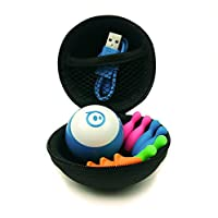Hexnub Protective Carry Case for Sphero Mini Ball Stem Coding Robot and Accessories Hard Shell Shock Resistant Organizer Three Awesome Colors - (Black)