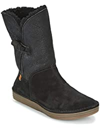 N5055 Doble FAZ-Lux Suede Black/Rice Field Negro Mujer Botas Button Plus Cord