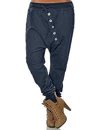 Huihong Damen Große Größe Haremhose Pumphose Leichte Hose Mode Freundin  Hipster Baggy Hosen Verband Taille Bequeme 755b1228ff