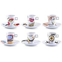 Zeller 26505 Servicio de Café Expreso, Porcelana, 30x15x8 cm, 12 Unidades