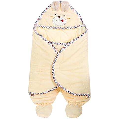 Happy Cherry - Saco Animal Invierno Osito para Bebés Niñas niños de Dormir Acolchado de Algodón Otoño 0-6 meses -