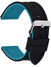 dcea35a34 Fullmosa Silicone Rubber 24mm Watch Strap,8 Colors for Rainbow Quick  Release Watch Band 18mm