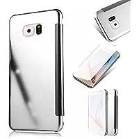Galaxy S6 Edge Funda,MingKun Samsung Galaxy S6 Edge Funda de Cuero Ultra Slim Carcasa Protección de PU Cuero Funda con Stand Función Cover