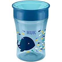 NUK 10255331 - Magic 360° 230ml taza 8meses + ballena, Azul