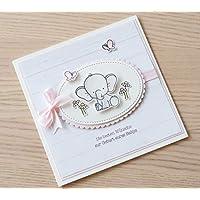 Glückwunschkarte zur Geburt, Karte zur Geburt eines Mädchens, Babykarte