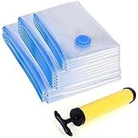 Songmics 60 x 80 / 80 x 100 / 40 x 60 cm 10 unidades Bolsas al vacío para ropa edredones almohadillas Ahorro de espacio RVM102