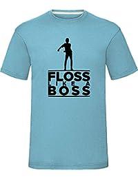 """Floss Like a Boss T-Shirt Boys Girls Kids Adults Tee Top Sky Blue Small (Chest 38"""")"""